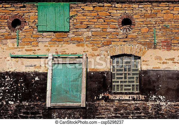 parede, pedra, histórico - csp5298237