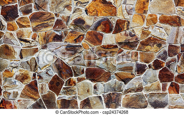 parede, textura pedra - csp24374268
