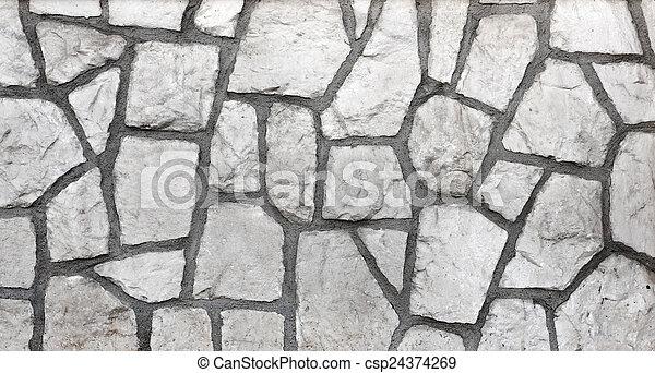 parede, textura pedra - csp24374269