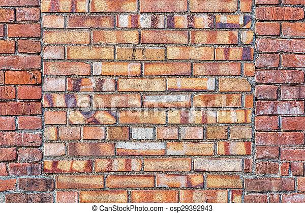 parede, tijolo, antigas, fundo, textura - csp29392943
