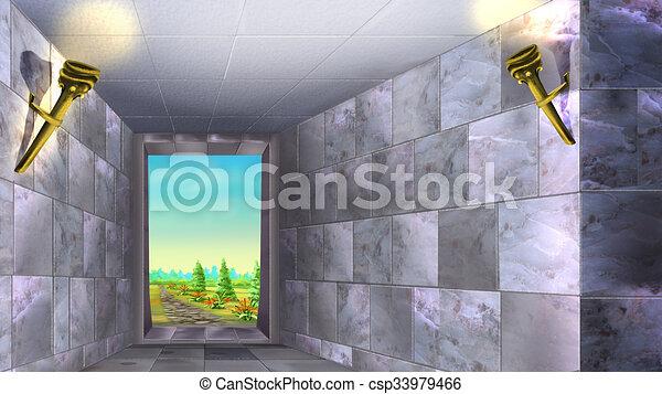 Las paredes de mármol del antiguo laberinto 01 - csp33979466