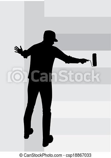 Paredes, vector, pintura, hombre vectores - Buscar imágenes de ...