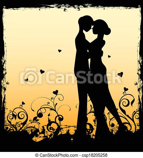 Una pareja enamorada - csp18205258