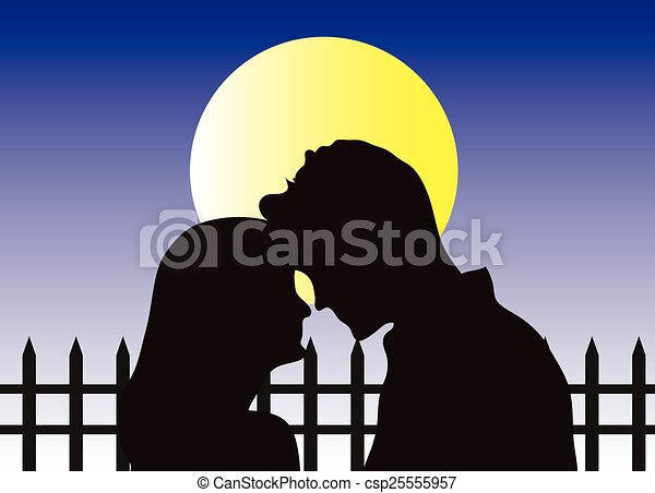 Una pareja enamorada - csp25555957