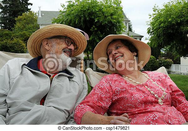 pareja, anciano - csp1479821