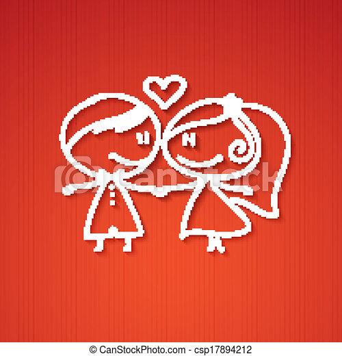 Una pareja de bodas - csp17894212