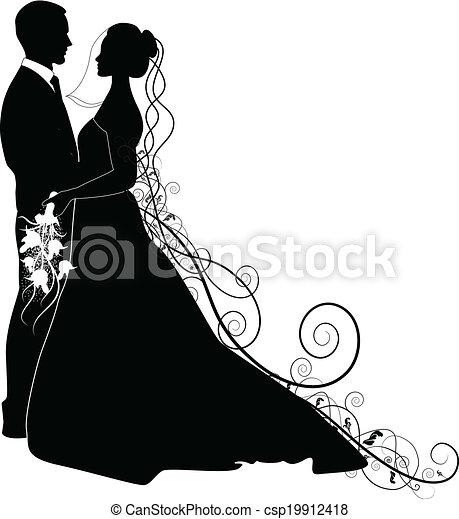 Pareja de bodas - csp19912418