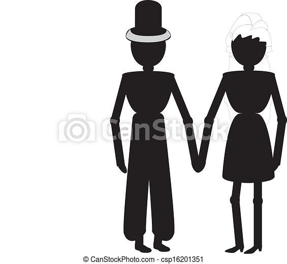 Una pareja de bodas - csp16201351