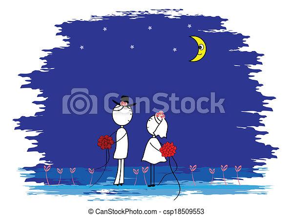 Una pareja de bodas - csp18509553