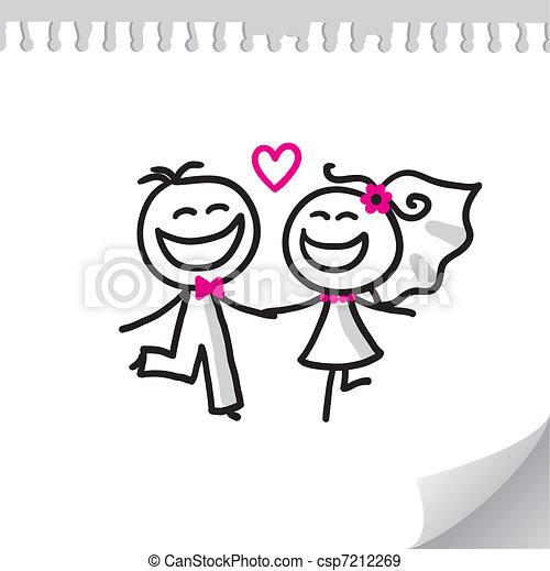 Una pareja de bodas - csp7212269