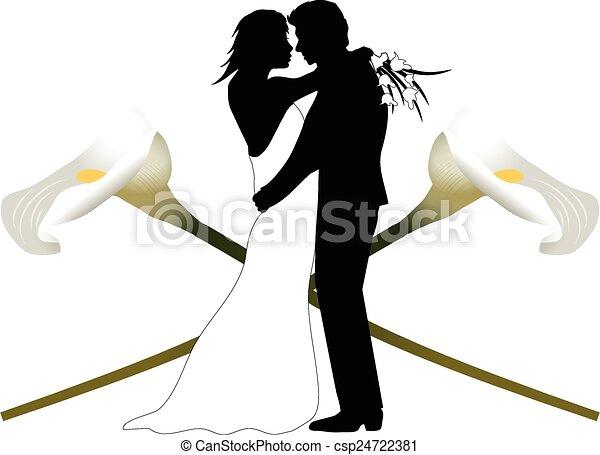 Pareja de bodas - csp24722381