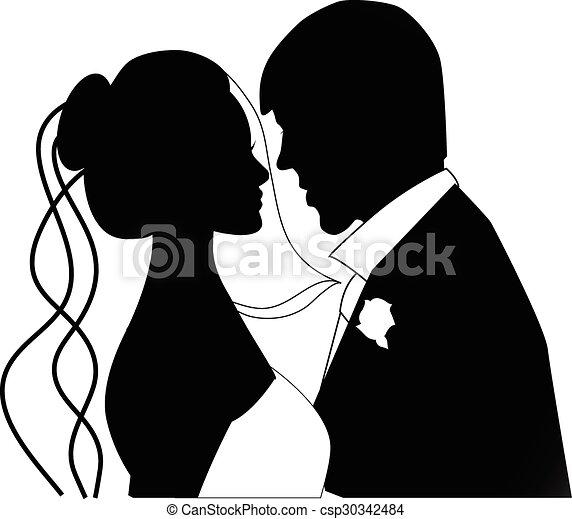 Una pareja de bodas - csp30342484