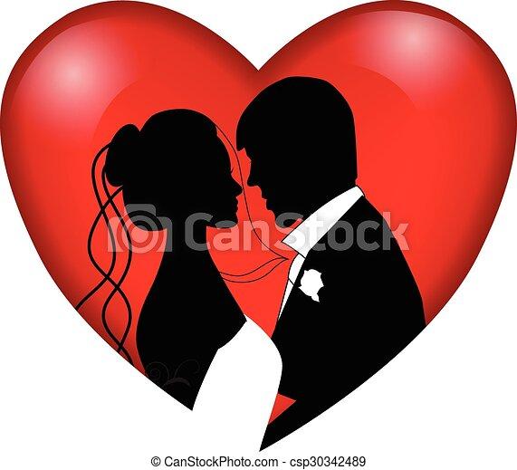 Una pareja de bodas - csp30342489