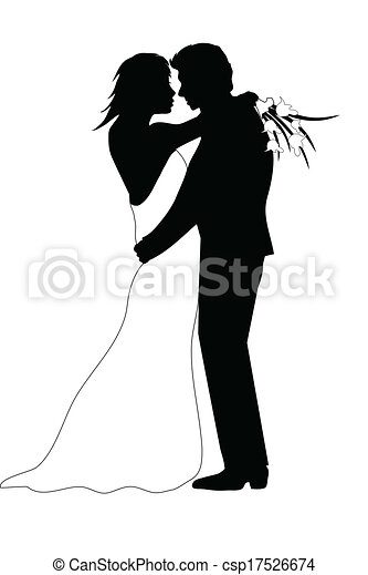Una pareja de bodas - csp17526674