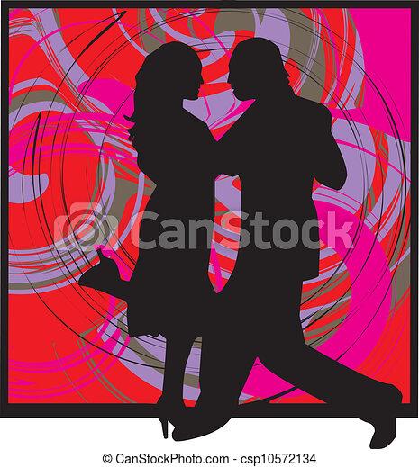 Un par de ilustraciones de baile - csp10572134