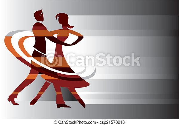 Antecedentes de pareja de baile - csp21578218