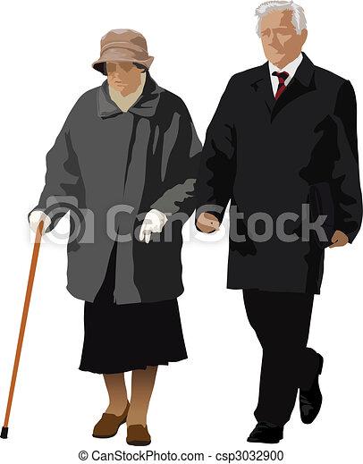 Una pareja vieja - csp3032900