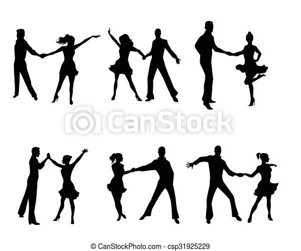 Seis parejas bailando - csp31925229
