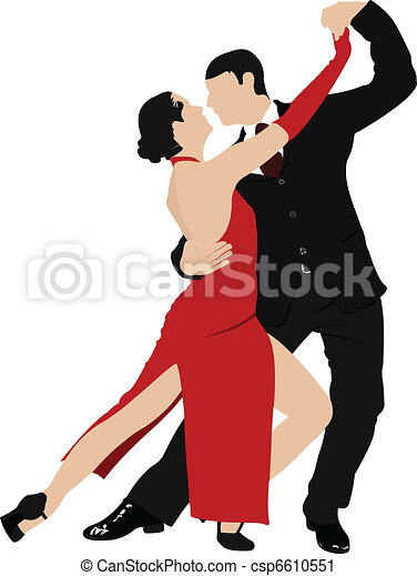 Parejas bailando un tango - csp6610551