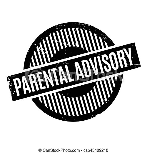parental advisory rubber stamp grunge design with dust scratches