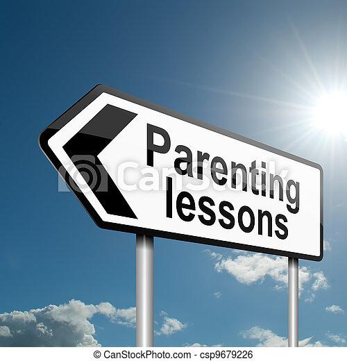 Parenting lessons. - csp9679226