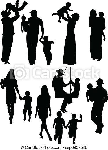 parents, enfants - csp6957528