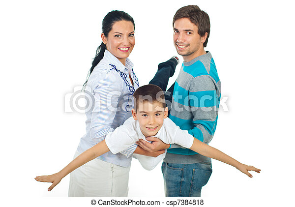 Parents playing with their child - csp7384818