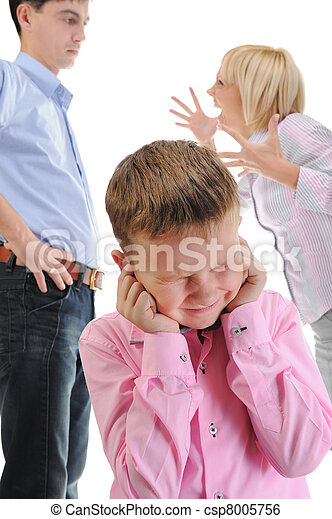 Parents share child. - csp8005756