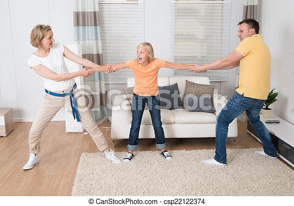 Parents Under Divorce Dividing Kids - csp22122374