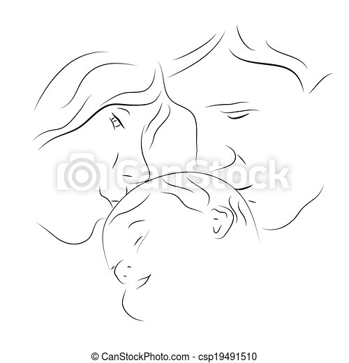 Parents with a baby - csp19491510