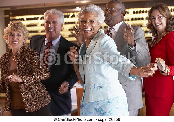 pares, danceteria, junto, dançar - csp7420356