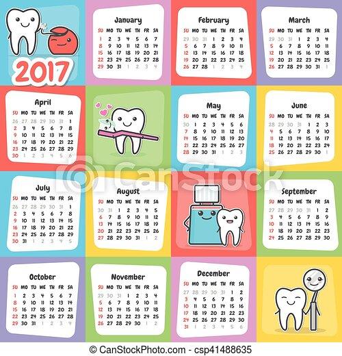 Calendario Parete.Parete 2017 Dentale Calendario