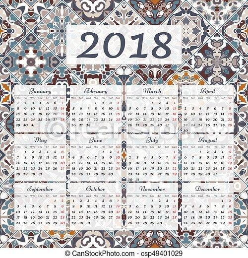 Calendario 12 Mesi.Parete 2018 Calendario 12 Mesi