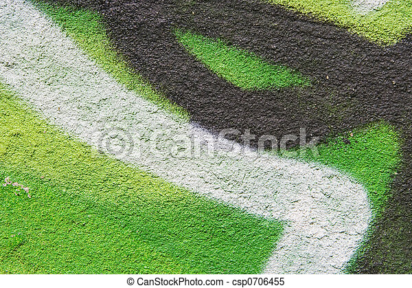 Parete Acido Verde Verde Bianco Sfondo Nero