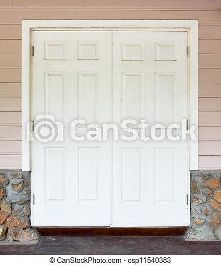 parete, bianco, porta - csp11540383