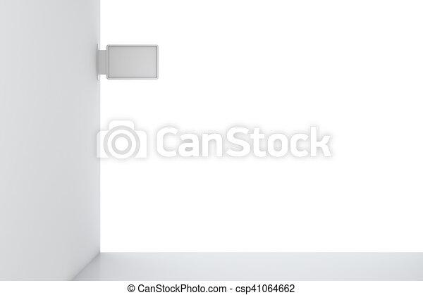 parete, cartello, isolato, floor. - csp41064662
