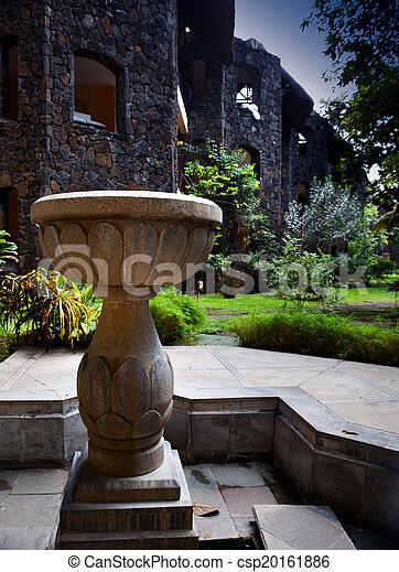 parete, distrutto, pietra, tropics., vaso - csp20161886