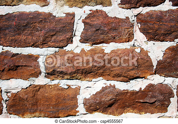 parete, fieldstone, fondo - csp4555567