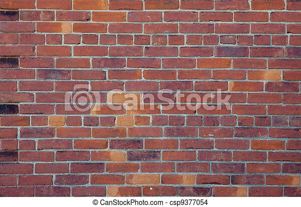parete, fondo, mattone rosso - csp9377054