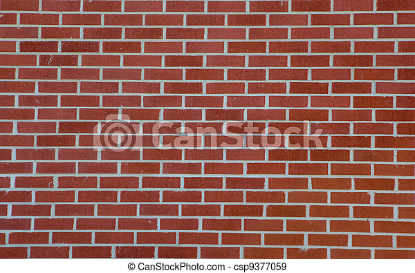 parete, fondo, mattone rosso - csp9377059