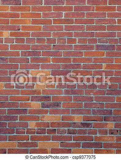 parete, fondo, mattone rosso - csp9377075