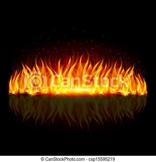 parete, fuoco, black. - csp15595219