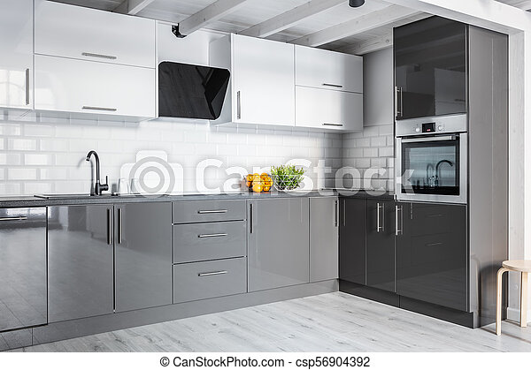 Cucine Bianco Grigio : Parete grigio mattone cucina grigio parete moderno mattone