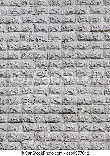 parete, grigio, mattone, fondo - csp9377042