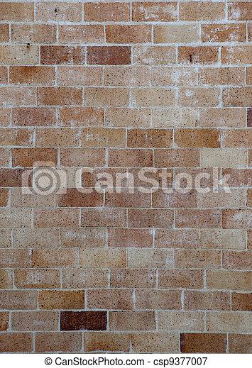 parete, grigio, mattone, fondo - csp9377007