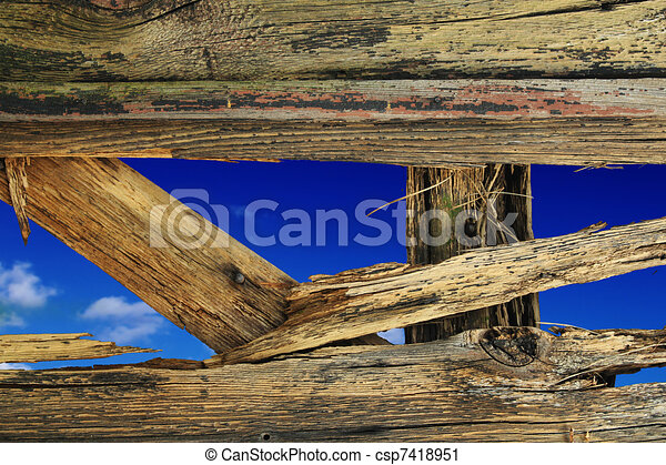 parete legno, buco - csp7418951