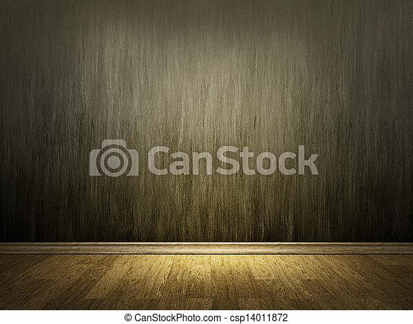 parete, legno, pavimento cemento - csp14011872