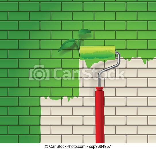 parete, mattone - csp9684957