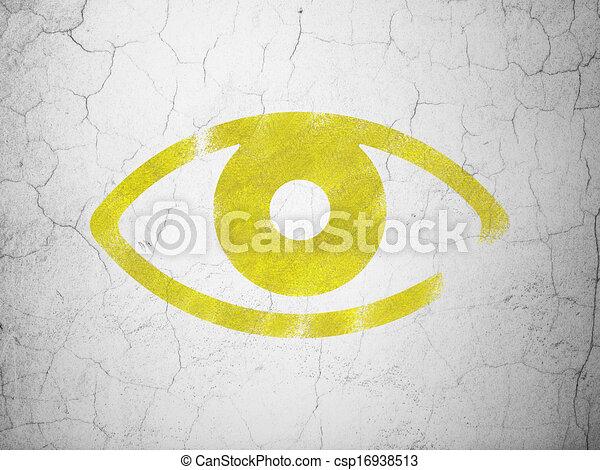 parete, occhio, concept:, fondo, intimità - csp16938513