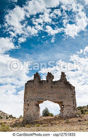 parete, pietra, antico, porta - csp12751833